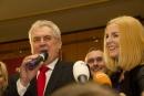 Prezident Zeman se svou dcerou