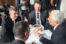 Premier Babiš lobující na Davoské fóru...