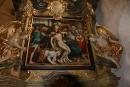 Snímání z kříže - obraz v barokní kapli kostela Všech Svatých na Hradčanech, kde včera byla připomenuta slavnostní modlitbou mučednická křížová cesta Krista na kalvárii